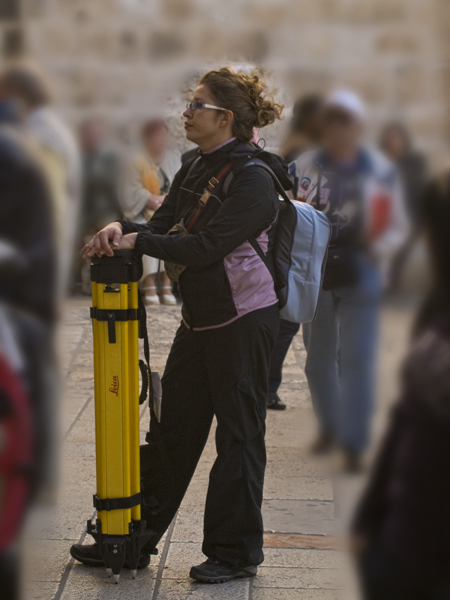 Heavy duty Leica woman.
