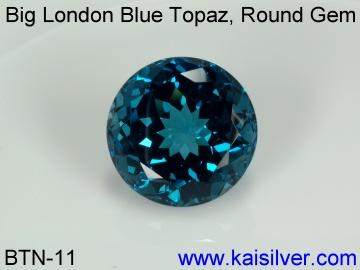 Large Round London Blue Topaz Gem Stone