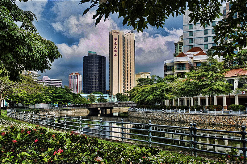 Singapore River (after heavy handed Topaz action)