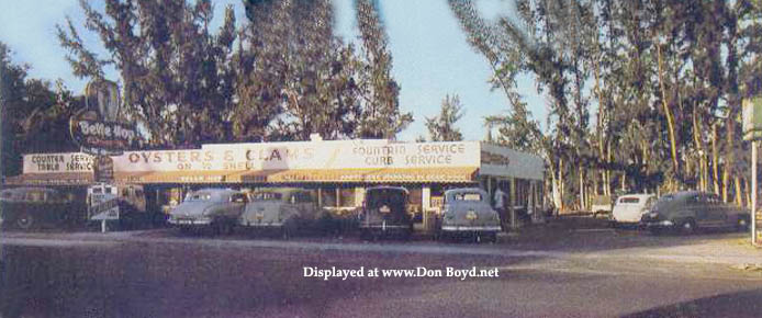 1940s - the Belle Hop Drive-In at 8301 N. E. 2nd Avenue, Miami