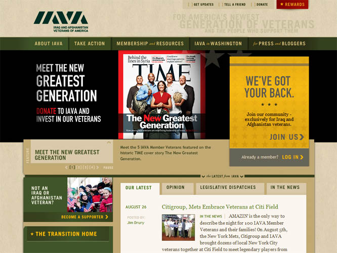 Link:  Support IAVA - the Iraq and Afghanistan Veterans of America
