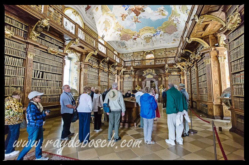 The Melk Library with 70,000+ books from the 9th through the 15th centuries