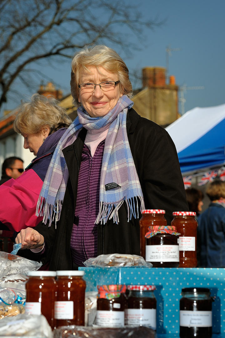 The WI sell jam on the square