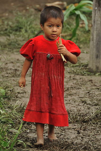 Yuqui Child - Bia Recuate, a Yuqui village on the Rio Chimore