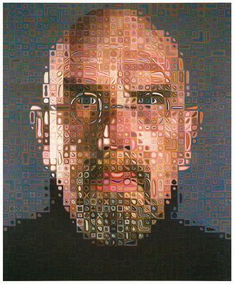 Chuck Close-self portrait