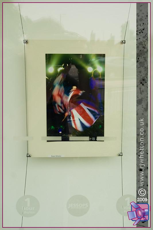 Jessops store displaying photographs from Robert Whetton Dorset Photographer