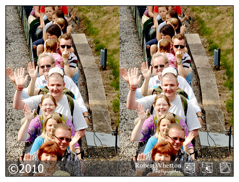 Birthday photograph ruined, but fixed with cloning. Before and after. Photography by Robert Whetton Photographer