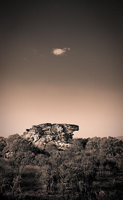 Ubirr Rock in duotone