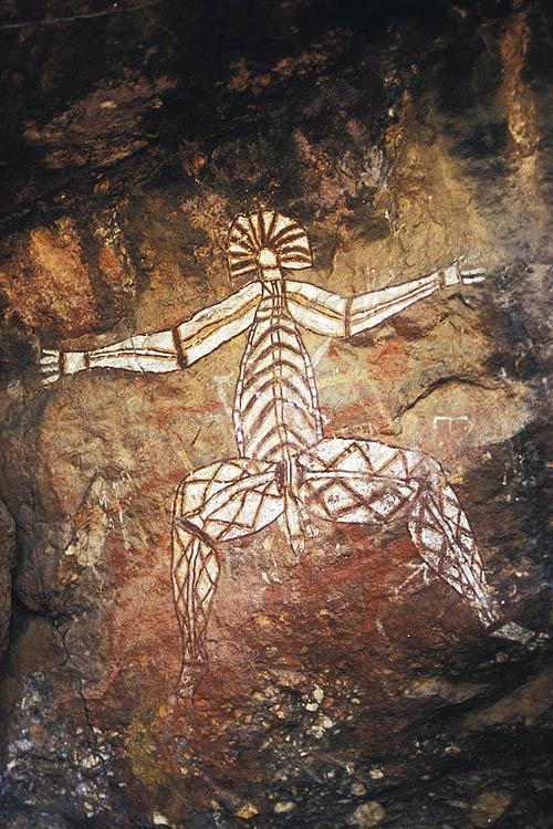 Namarrgon figure, Ubirr Rock, Kakadu