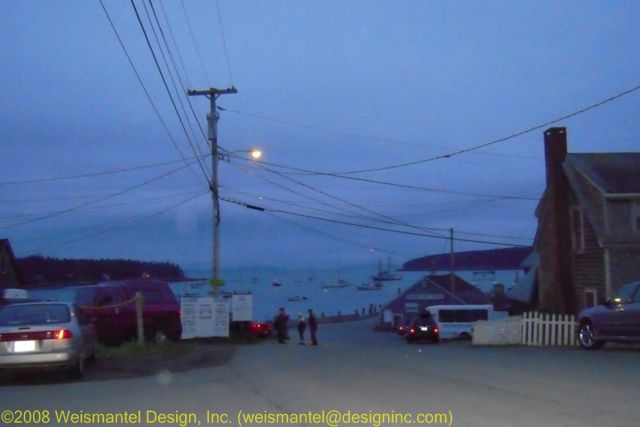 Night Street Life in Port Clyde
