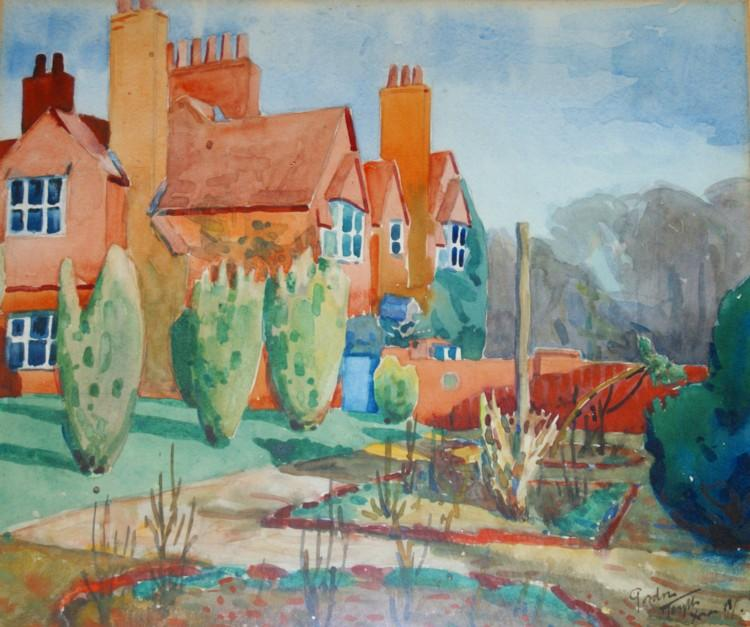 Mesylls 1918, by Jan Gordon. Watercolour, authors collection.
