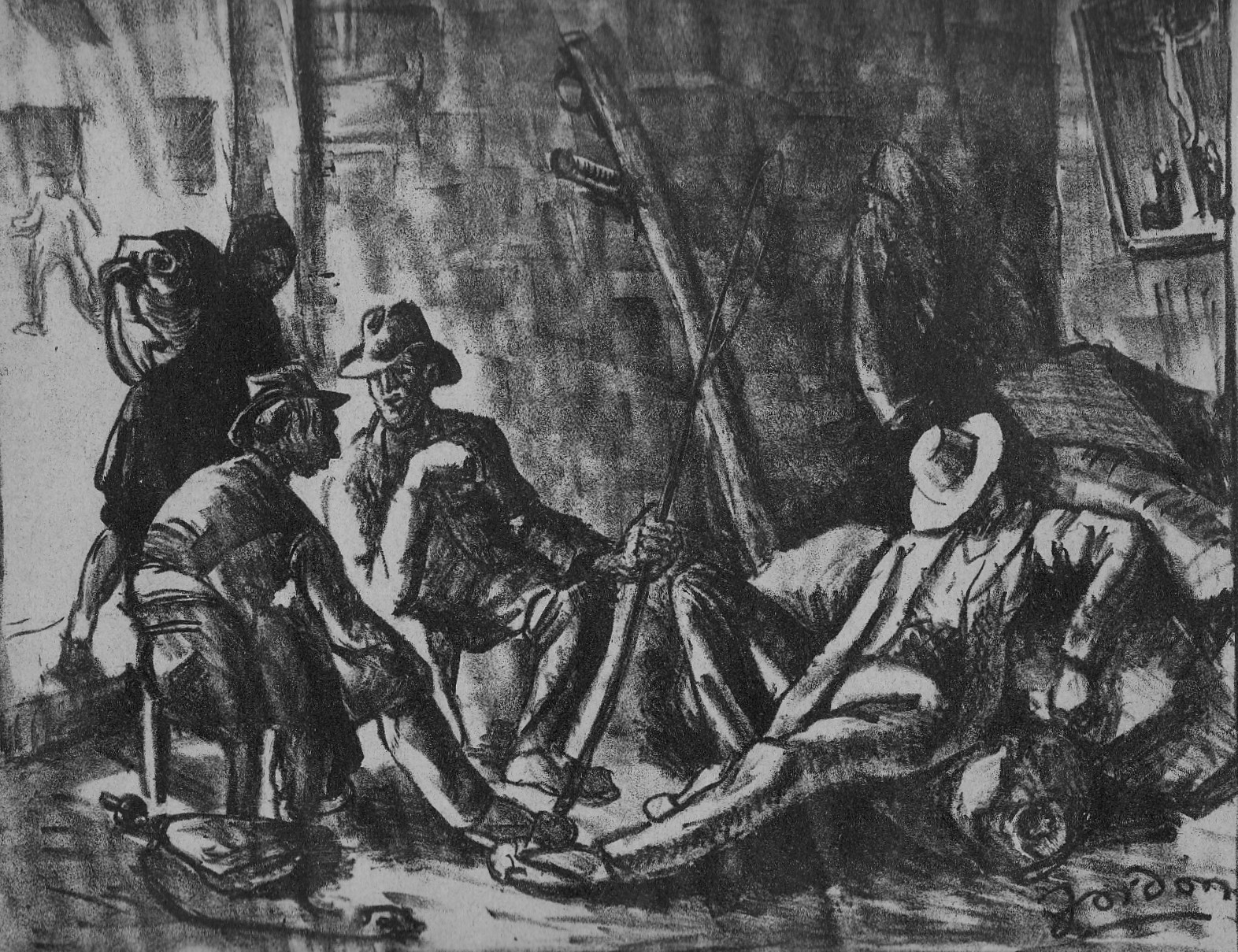 Carters in the posada, 1921, Authors collection