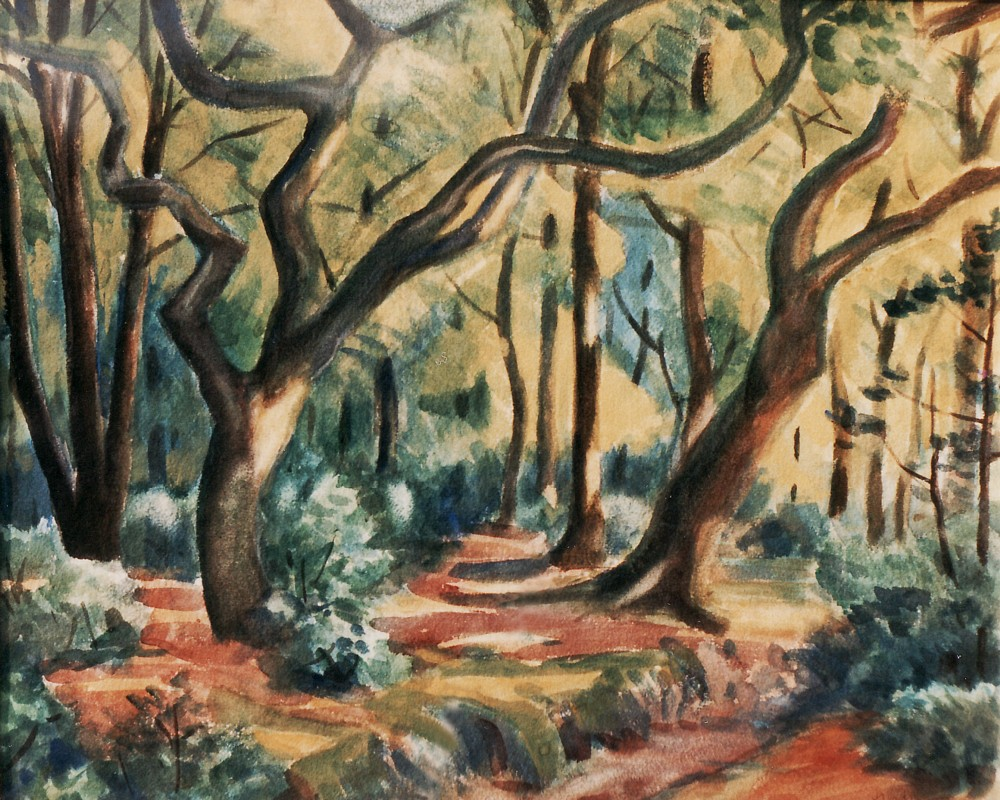 New Forest Glade (Savernake Wood), Jan Gordon. This painting was on my bedroom wall as I grew up, and also that of my brother.