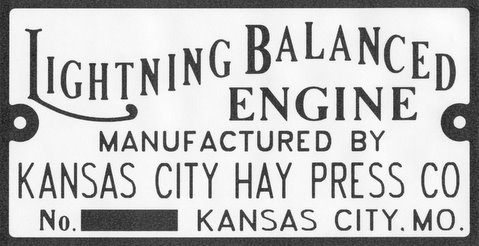 This is the nameplate from the full-size engine, shown in later photos