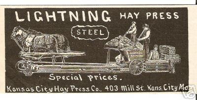Copy of an ad from Kansas City Haypress