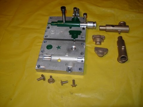 Mixer parts with molds