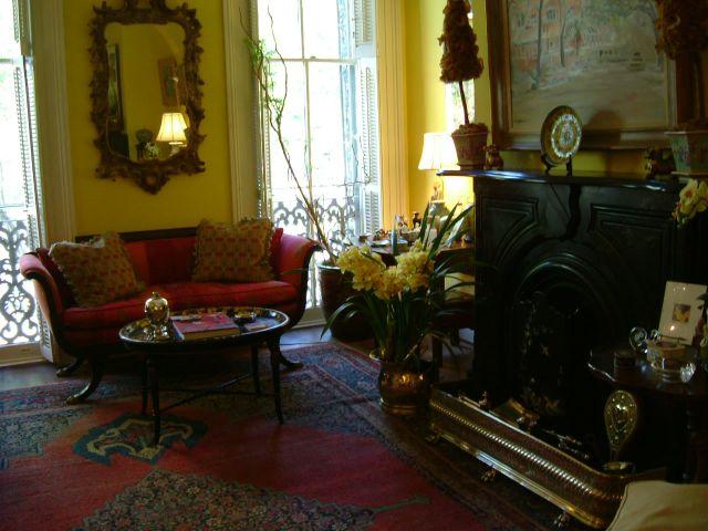 Inside her lovely home