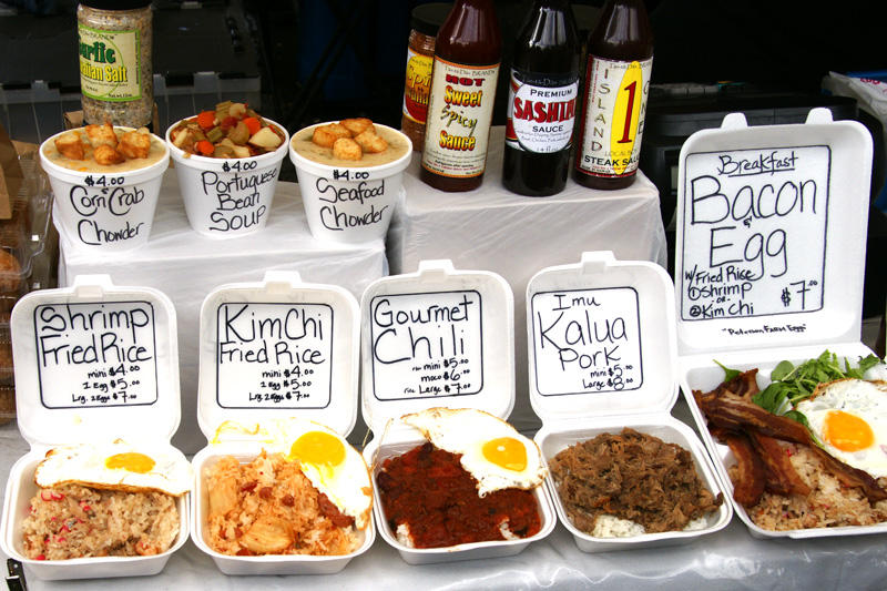 Typical fare at the KCC farmers market