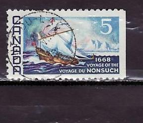 NONSUCH sail boat small wave stamp - 1968