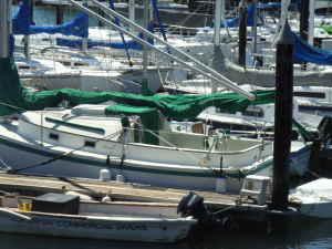port qtr, at her dock