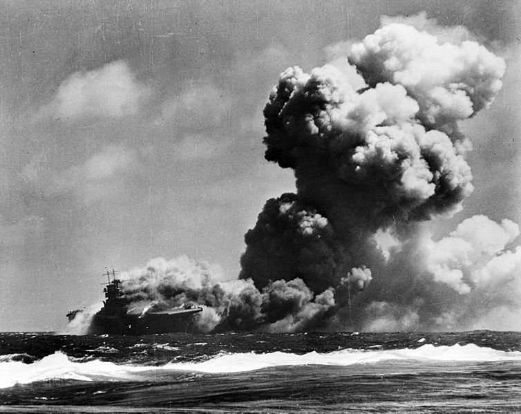 Charlie Cooper survived the sinking of the USS Wasp by the Japanese on Sept 15, 1942
