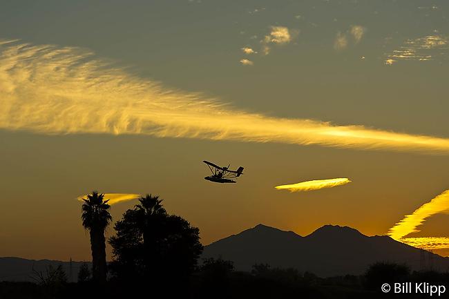 Ultralight at Sunset  1 --- 2013 Town of Discovery Bay Calendar winner