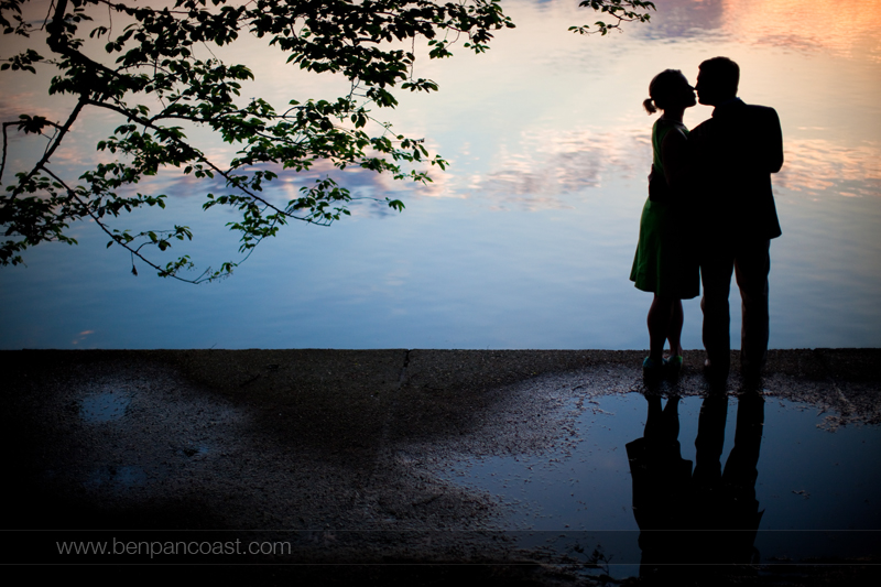 Washington DC, engagement pictures by the tidal basin at the National Mall.