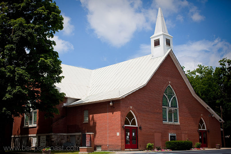 Wedding ceremony, church, Lawrence Michigan