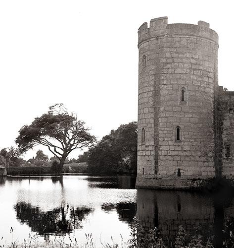 Bodiam Castle, England, 1973