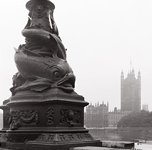 Parliament across the Thames, London, 1976