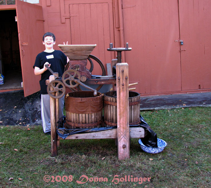 Dylan with Cider Press