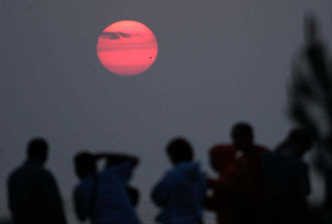 Venus transit, sunrise