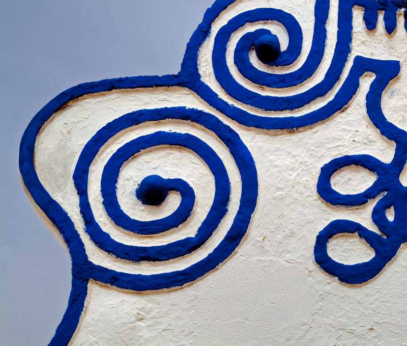 Double Spiral and a Little More in Blue and White