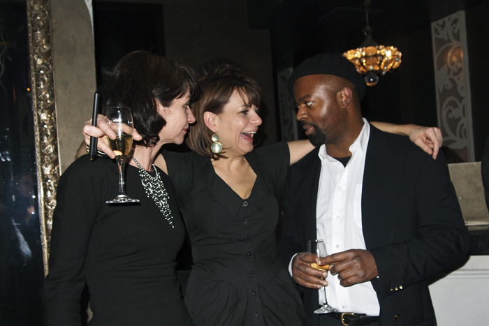 Natalie Young and Ben Okri, prize-winning Writer