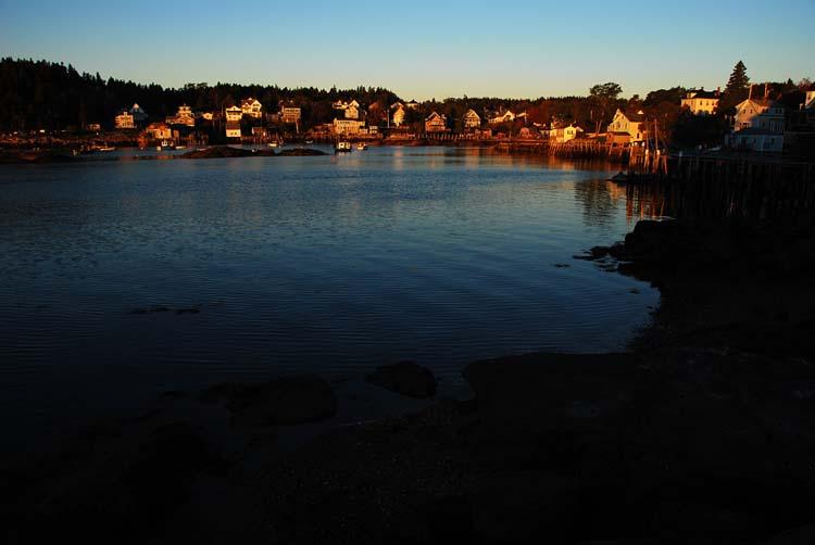 Stonington Harbor Warms<br>in the Morning Sun