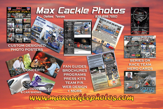 Max Cackle Photos Promo Flyer