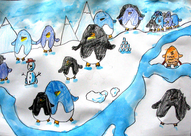 please count the penguins, Tony, age:6
