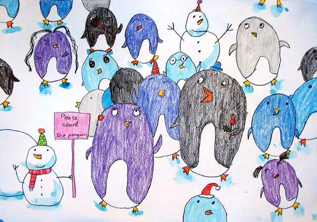 please count the penguins, Grace Lin, age:6.5