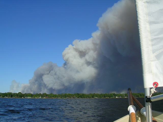May Fires #6 - Bradford fire with sail.JPG