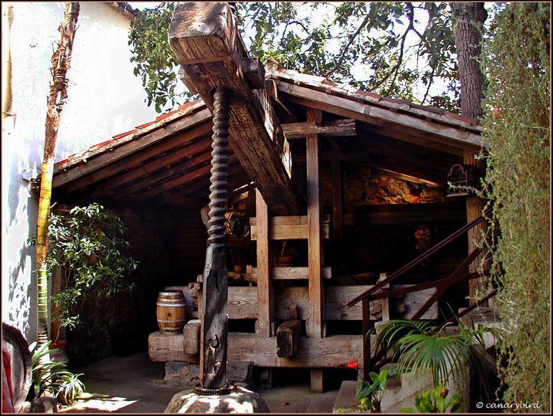 old grape press, wine-making