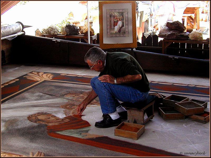 sand painter, alfombrista