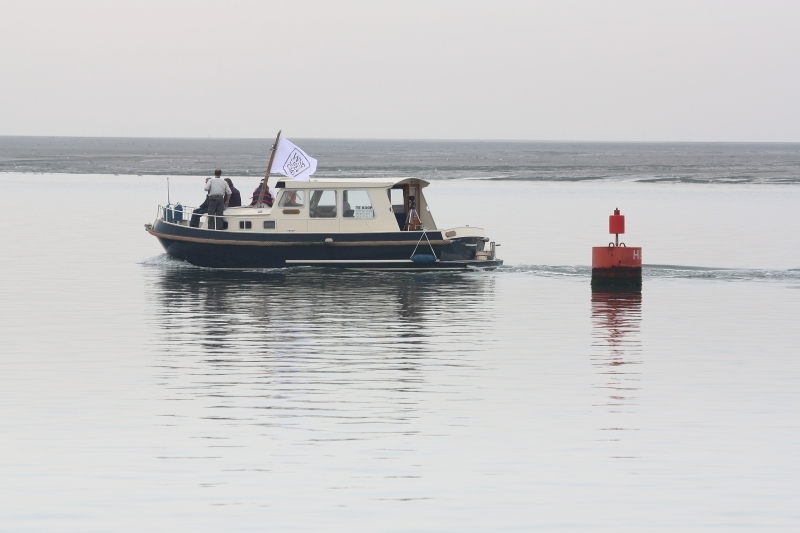 One of the 8 observer boats