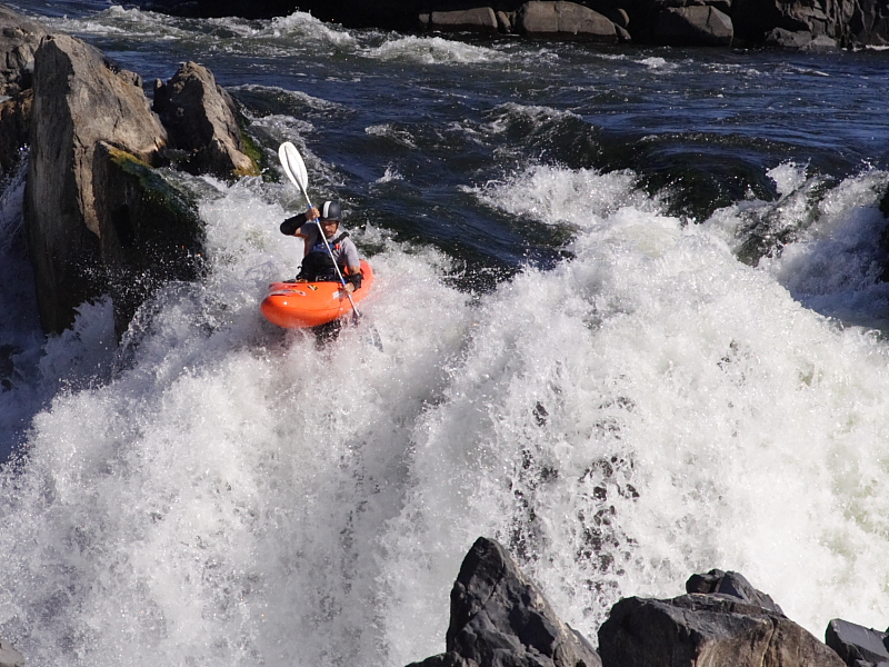 Heading over the falls
