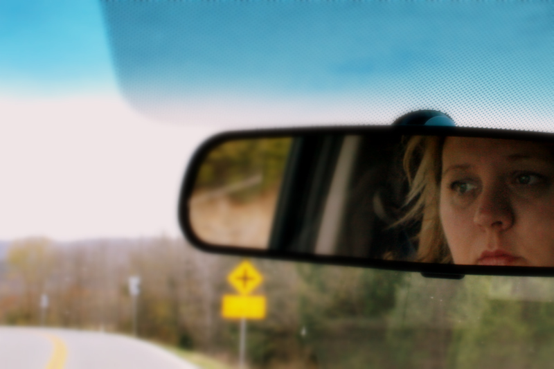 Watching the Road (Self Portrait)