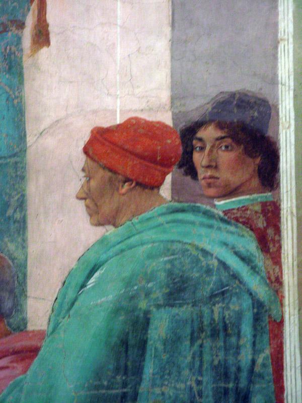 On the right, a self-portrait of the artist<br />Filippino Lippi (1457-1504)<br />8172