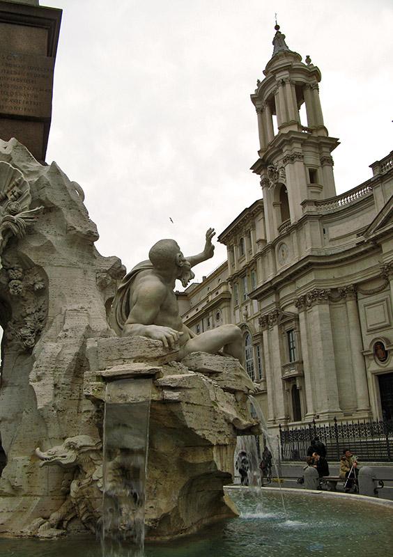The Rio de la Plata, Fontana dei Quattro Fiumi<br />Piazza Navona<br />9875