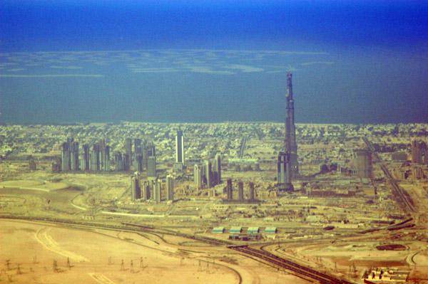Burj Dubai aerial, Nov 2007