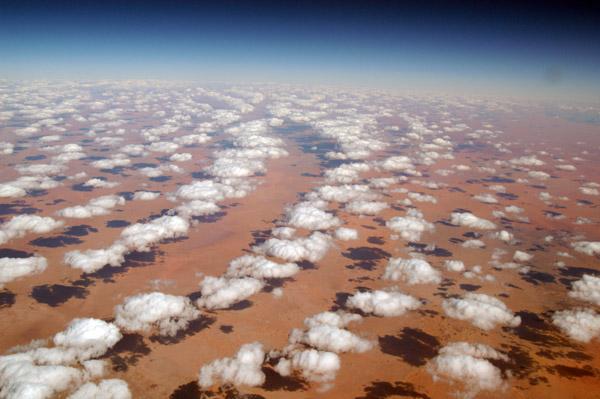Clouds over the Sahara, In Amenas, Algeria-Libya border region (N27 50/E009 31)