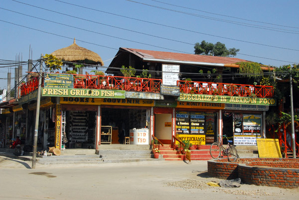 Center of Sauraha, Nepal