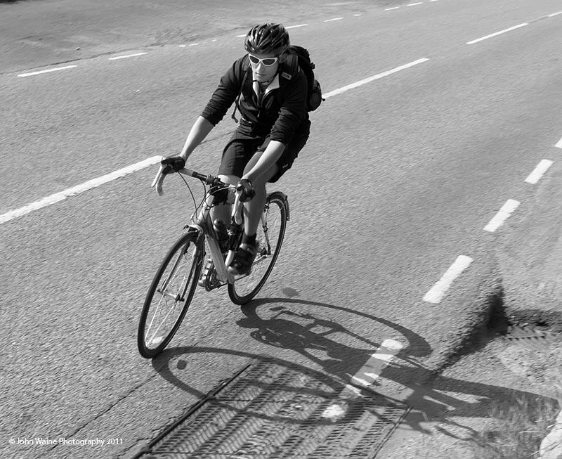 Cyclist & Shadow